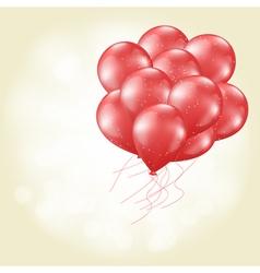 heart balloons flying vector image vector image