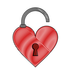 heart unlocked symbol vector image