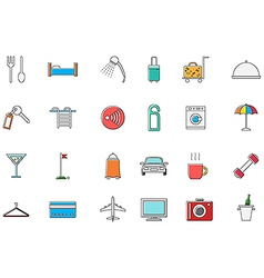 Hotel service colorful icons set vector image vector image
