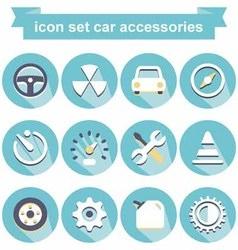 Icon car accessories vector