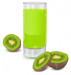 kiwi fruit juice vector image