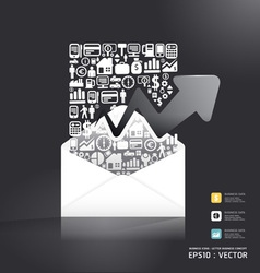 letter paper shape concept vector image vector image