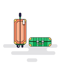 Luggage bags with wheels vector