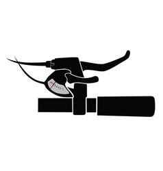 Mountain bike handlebar vector