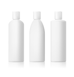 set of cosmetic products on a white background vector image vector image