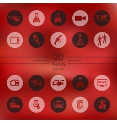 Set of news icons vector image