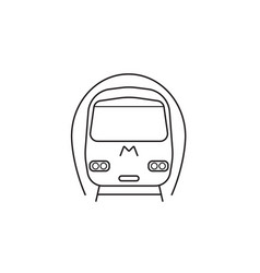 subway metro icon public transport vector image