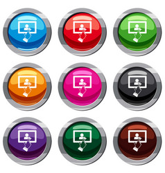 touch screen tablet click set 9 collection vector image