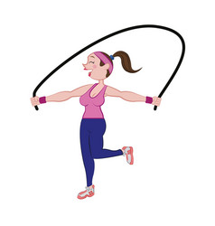 woman doing aerobics vector image