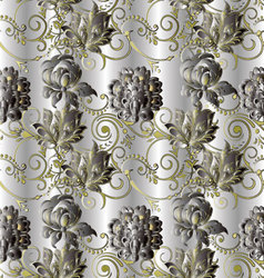Stylish floral vintage seamless pattern vector image