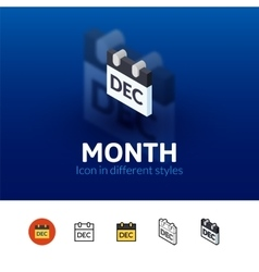 Month icon in different style vector