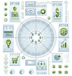 Infographics circular composition circle divided vector