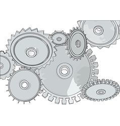 Abstract metall gears vector