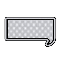 monochrome rectangular speech with black outline vector image