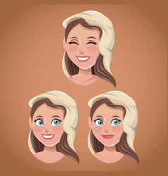 Faces virgin mary spiritual vector