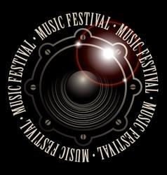 Banner for music festival with acoustic speaker vector