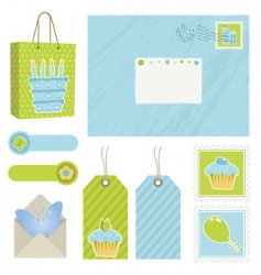 Postage icons vector