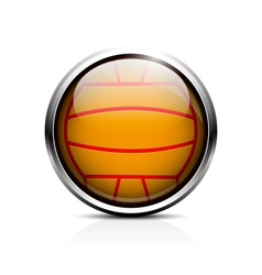 Water polo ball icon vector