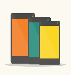 Colorful smartphone vector