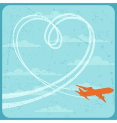 Airplane flying in the sky vector