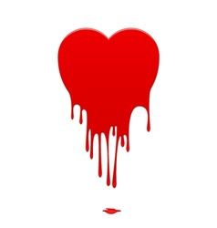 Melting heart vector
