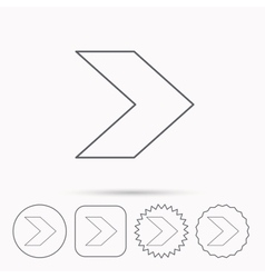 Next arrow icon forward sign vector