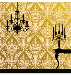 damask and interior vector image