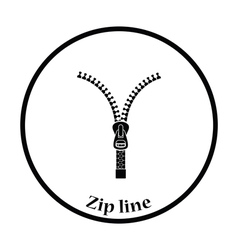 Sewing zip line icon vector image