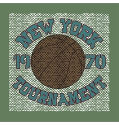 Basketball sport t-shirt vector