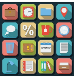Business flat icons vector image