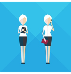 Businesswoman full length vector