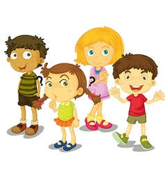 Cute boys and girls together vector image vector image