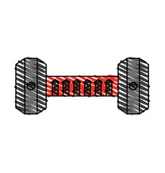 Dumbbell exercise equipment icon image vector