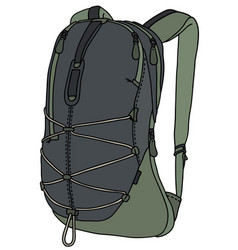 Green travel backpack vector