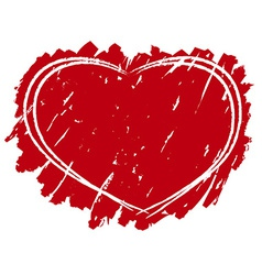 Grungy heart background vector image
