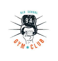 Gym club emblem in retro style vector
