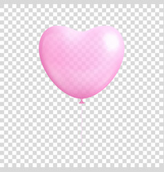 heart shaped balloon transparent isolated vector image