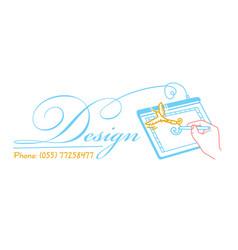Icon for the designer artist vector