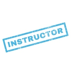 Instructor rubber stamp vector