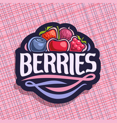 logo for berries vector image vector image