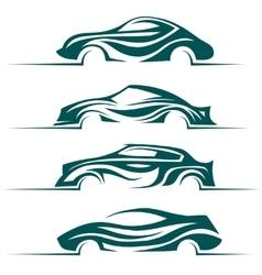 Modern cars design elements vector image