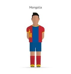 Mongolia football player soccer uniform vector
