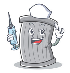 nurse trash character cartoon style vector image vector image