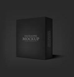 Realistic black box on dark gray background vector
