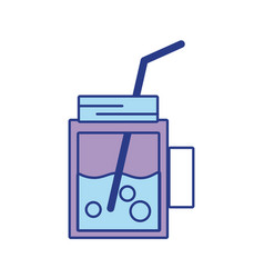 Refreshment beverage to hot day in the sun vector