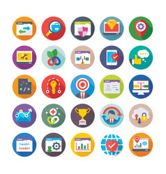 Seo and digital marketing icons 13 vector