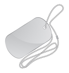Silver identity tag vector