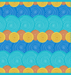 Summer seamless pattern ethnic background with vector