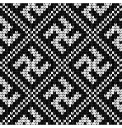 Traditional Baltic knitting pattern with Swastika vector image vector image