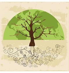 Tree world concept vector image